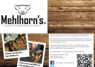 Mehlhorn's – Flyer DIN lang