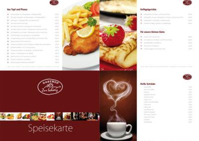 Zur Schweiz – Speisekarte