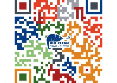 BIO CLEAN – QR Code mit Logo