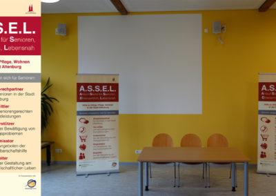 """Stadt Altenburg Projekt """"ASSEL"""" – Roll Up"""